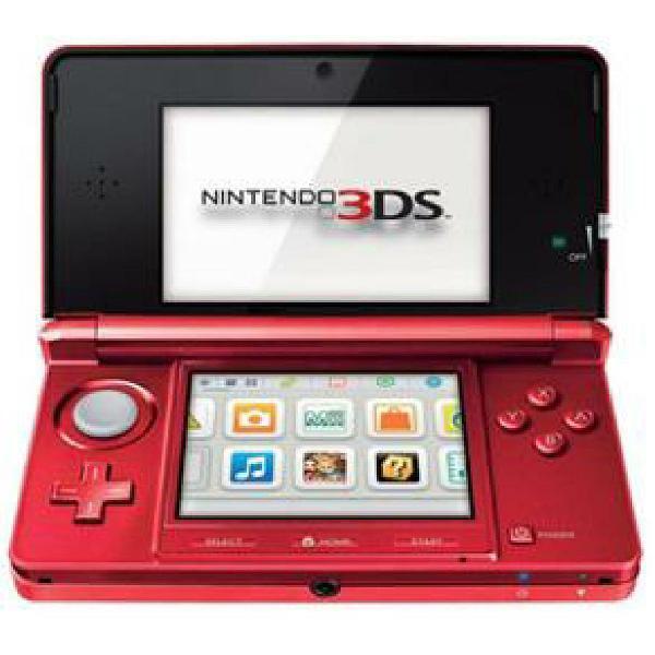 Nintendo 3ds vermelho metálico