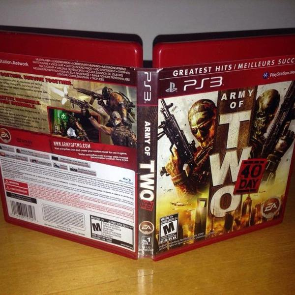 Army of two 40th day mídia física ps3 playstation r$88