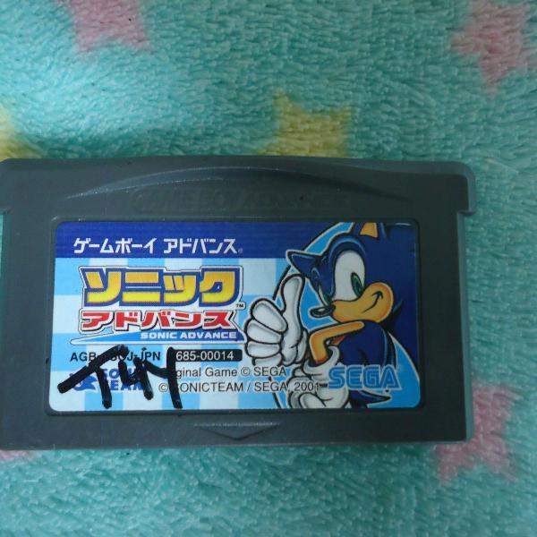 Cartucho fita jogo game boy advance japonês sonic