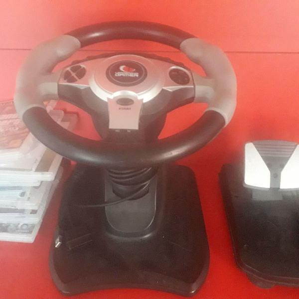 Controle de volante ps3 ps2 e pc