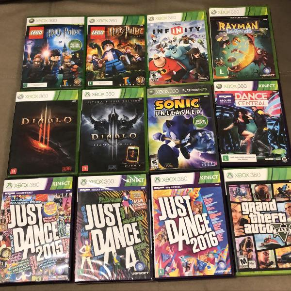 Diversos jogos xbox 360