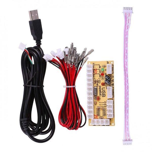 Kit zero delay arcade usb p/ pc/raspberry/ps3/ps4