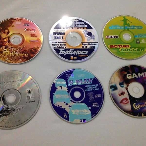 Lote 6 jogos pc computador anos 90 ótimo estado r$99