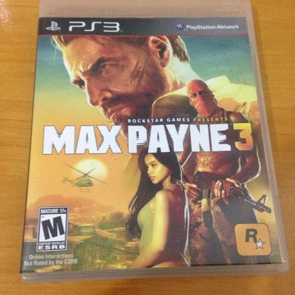Max payne 3 mídia física ps3 playstation 3 completo r$89