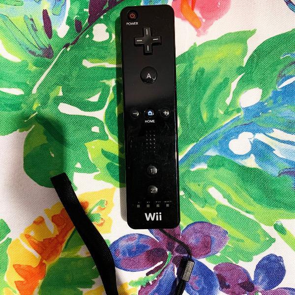 Nintendo wii remote control preto