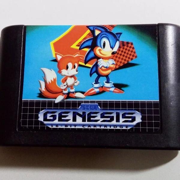 Sonic the hedgehog 2 mega drive cartucho