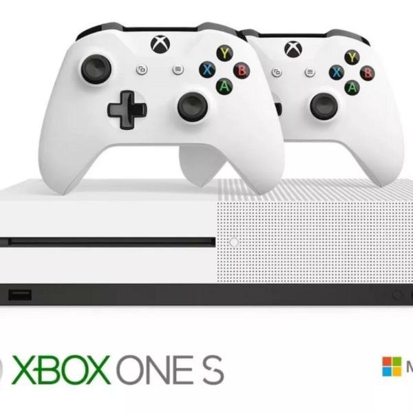 Xbox one s + 2 controles + 10 jogos fisicos perfeito estado