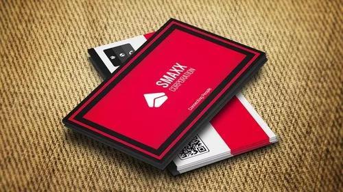 Cartão de visita 1000un com arte 4x4 verniz total frente