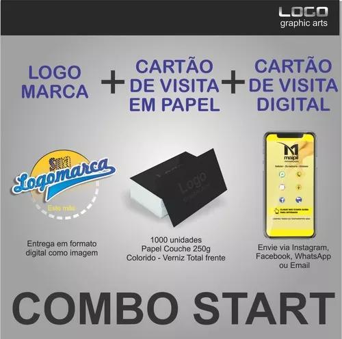Combo start (cartão visita + cartão virtual + logo)