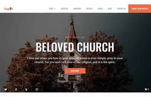 Criamos site para sua igreja editável e responsivo 2019