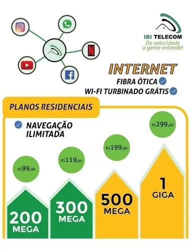 Internet fibra ótica ilimitada