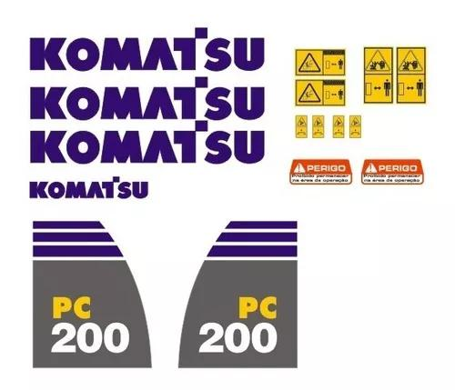 Kit de adesivos para escavadeira pc200