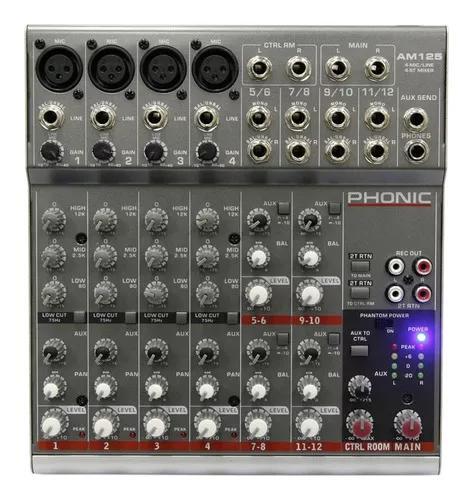 Mesa de som phonic am 125fx