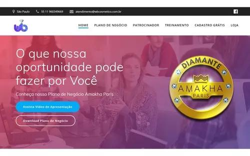 Site pronto com loja virtual para executivos amakha paris