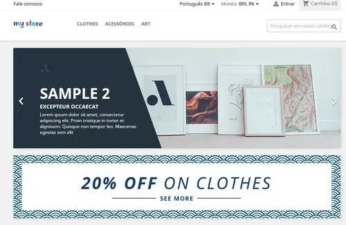 Sua loja virtual configurada e pronta para vendas