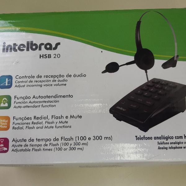 Telefone c/headset hsb20