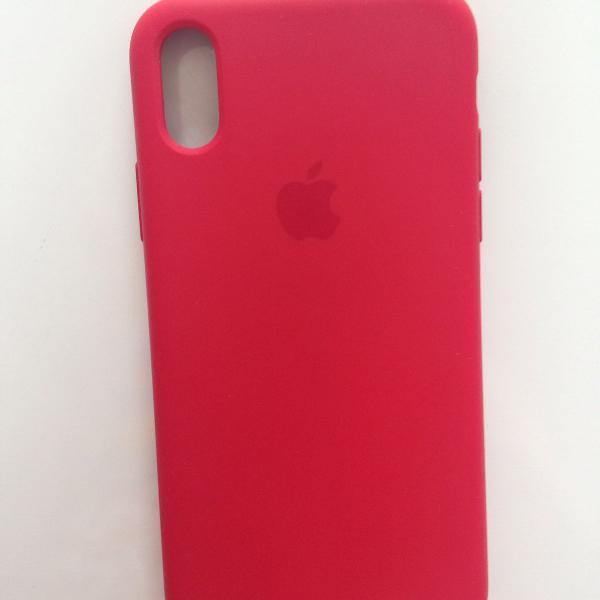Capinha original iphone x vermelha apple