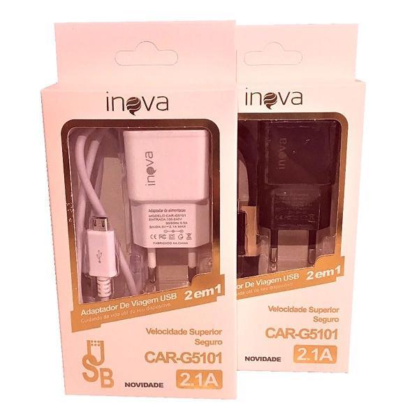 Carregador inova v8 original g5101 2.1a branco ou preto