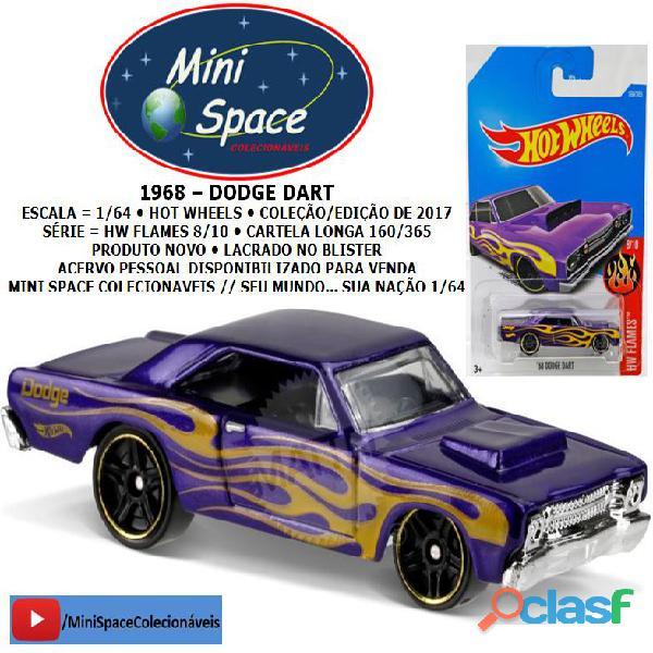 Hot Wheels 1968 Dodge Dart (HW Flames) cor Azul 1/64