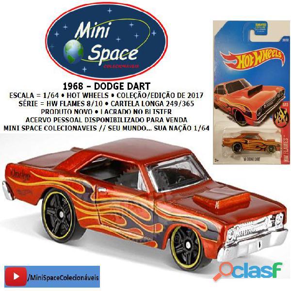 Hot Wheels 1968 Dodge Dart (HW Flames) cor Vermelho 1/64