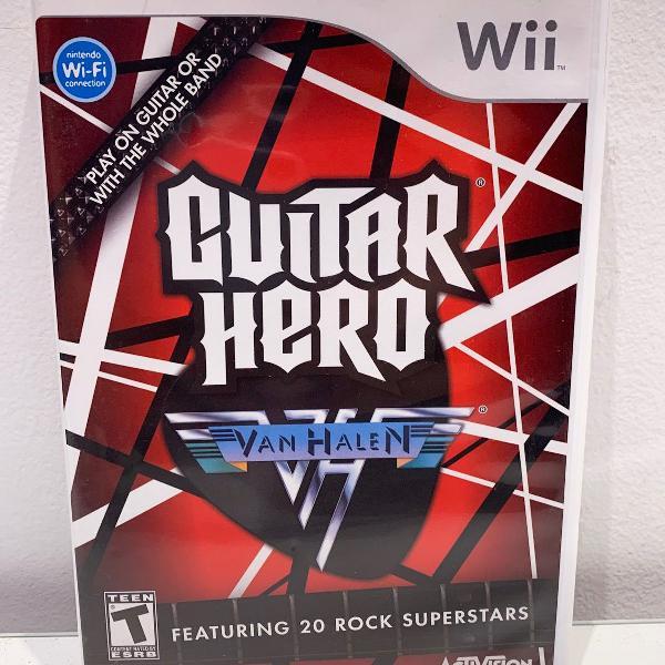 Jogo nintendo wii - guitar hero van halen