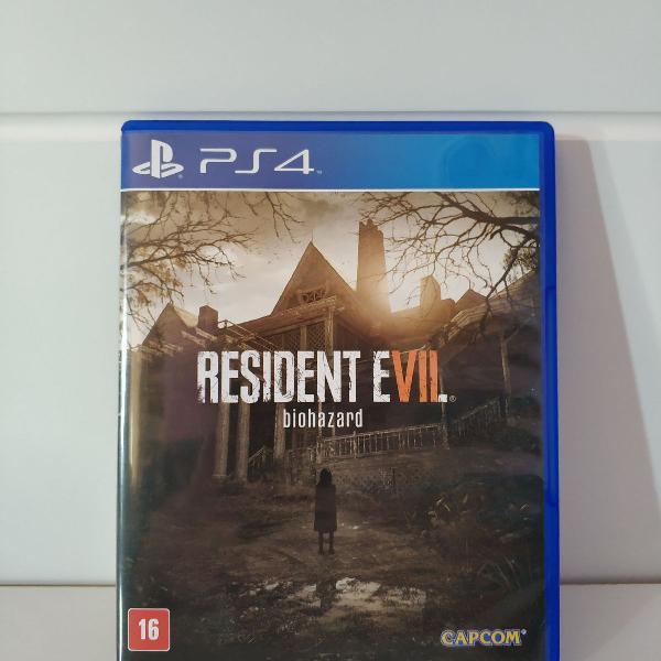 Jogo resident evil 7 para playstation 4