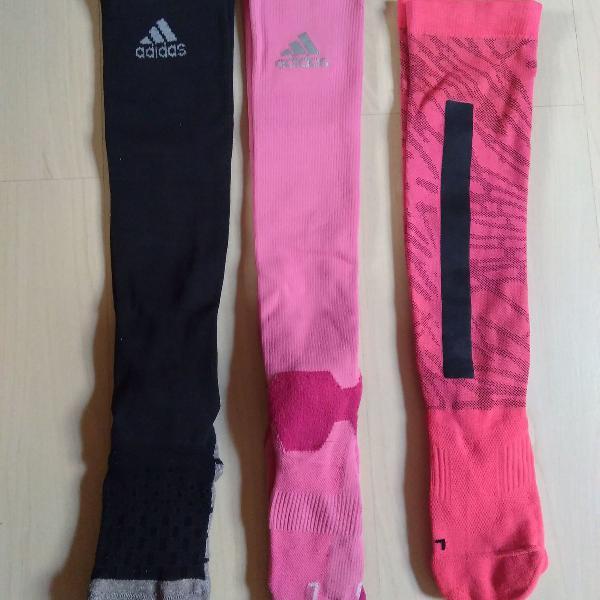 Kit meias de compressão corrida adidas nike