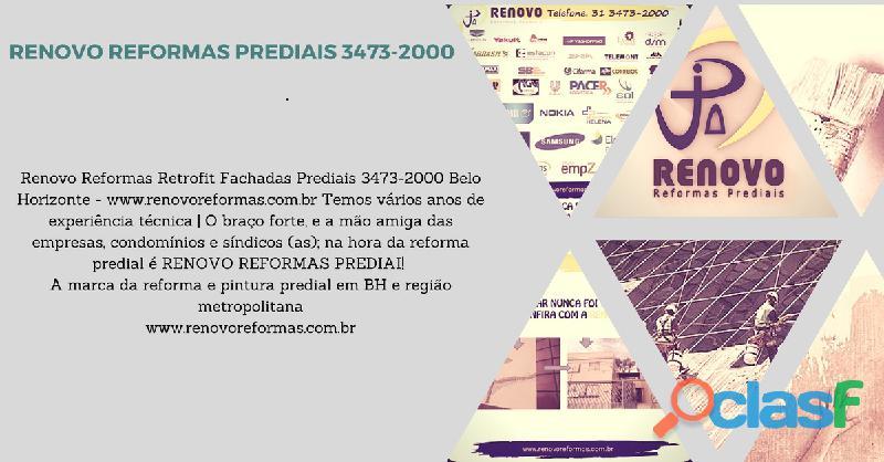 Obras e Reformas Corporativas Manutenção Reforma Predial Pintura Limpeza Fachada Prédios Renovo BH 12
