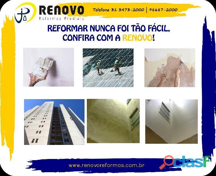 Obras e Reformas Corporativas Manutenção Reforma Predial Pintura Limpeza Fachada Prédios Renovo BH 11