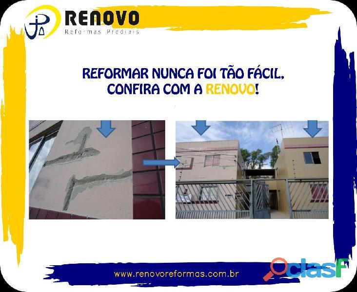 Obras e Reformas Corporativas Manutenção Reforma Predial Pintura Limpeza Fachada Prédios Renovo BH 10