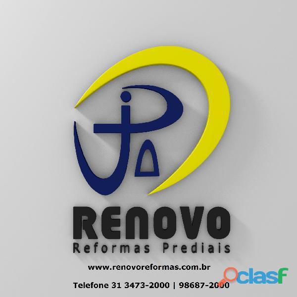 Obras e Reformas Corporativas Manutenção Reforma Predial Pintura Limpeza Fachada Prédios Renovo BH 7