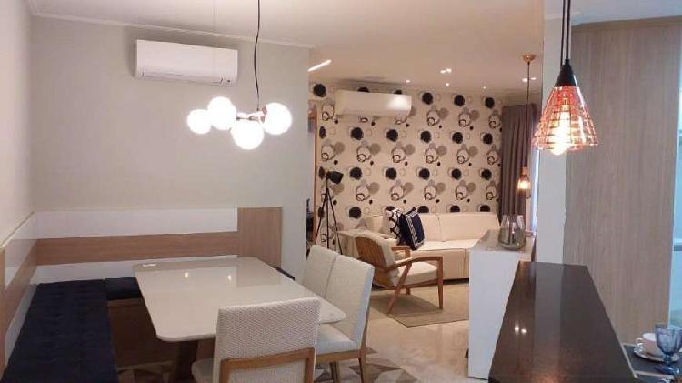 Apartamento com 2 dormitórios à venda, 91 m² por r$