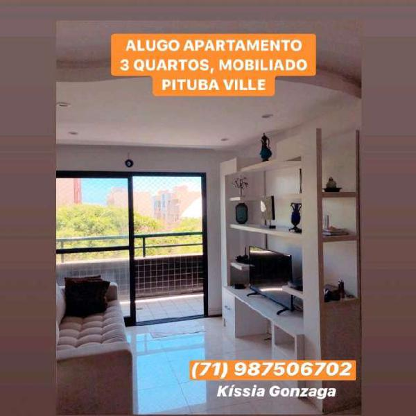 Apartamento para venda 3 quartos em pituba ville, pituba -