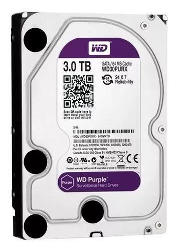 Hd 3tb Western Digital Purple Dvr Intelbras Wd30purz