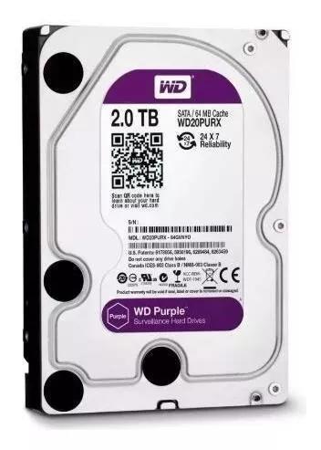 Hd de desktop western digital purple 2.0tb - o
