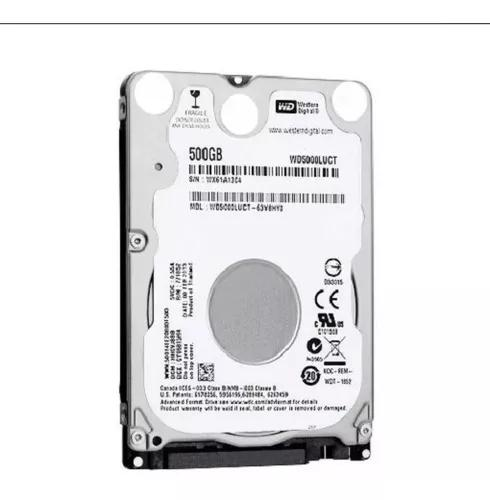 Hd notebook western digital 500gb sata 3gb/s wd5000luct 7mm