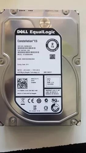 Hd servidor dell t420 r620 r730 t110 2tb sata 72k 3.5 0t926w