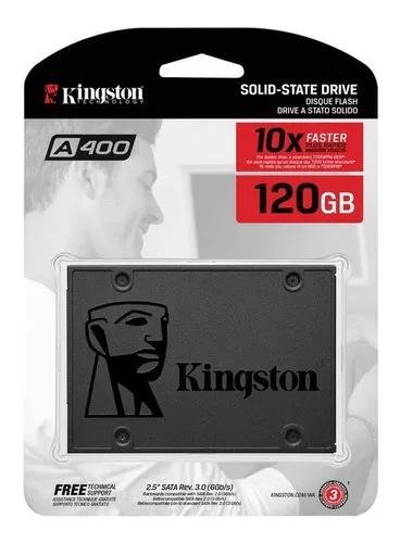 Hd ssd kingston a400 120gb, 500/320 mb/s sata 3 pronta entr.