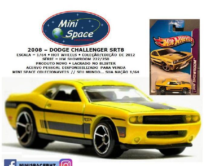 Hot wheels 2008 dodge challenger srt8 cor amarelo 164