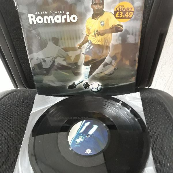 Lp depth charge romario vinil 12 importado uk neymar p/fãs