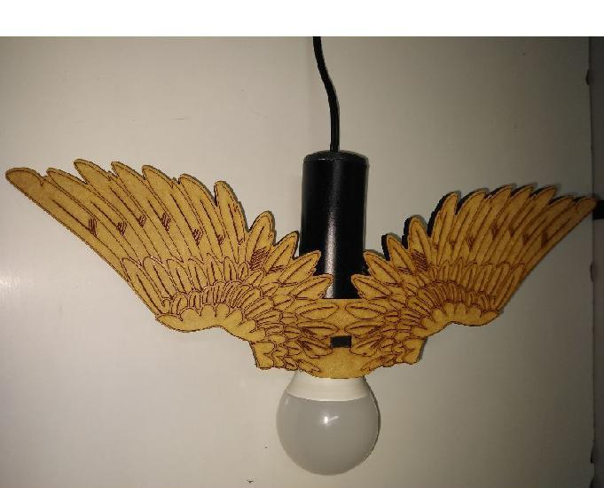 Releitura lucellino passarinho luz mdf 6mm tubo preto