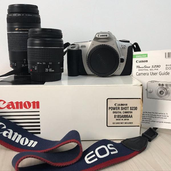 Camera digital canon (obs: lentes foram vendidas à