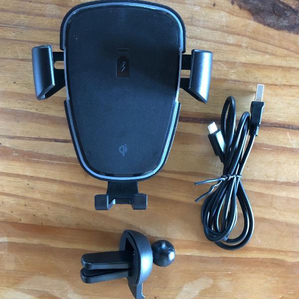 Suporte de celular para carro com carregador wireless