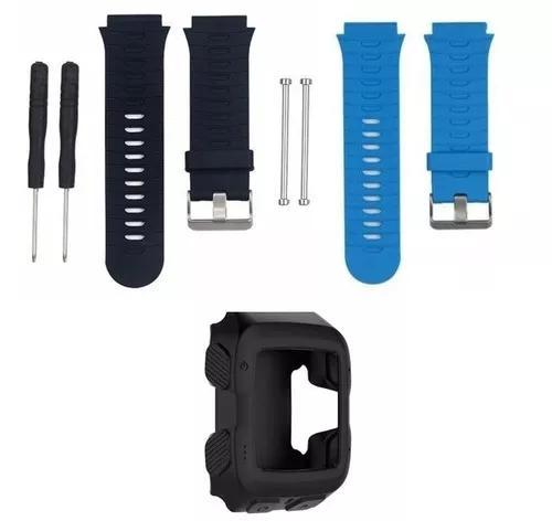 Kit 2x pulseiras garmin forerunner 920xt silicone + capa