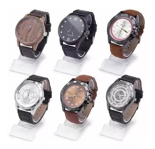 Kit 6 relógios masculino vários modelos atacado revenda