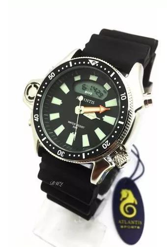 Relógio atlantis aqualand original jp2000 serie prata