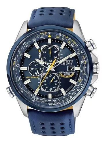Relógio citizen eco-drive blue angels at8020-03l -