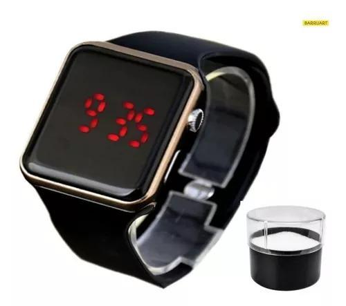 Relógio digital silicone infantil / adulto + estojo