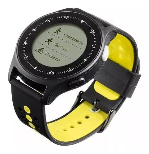 Relógio inteligente bluetooth gps sincroniza strava app top