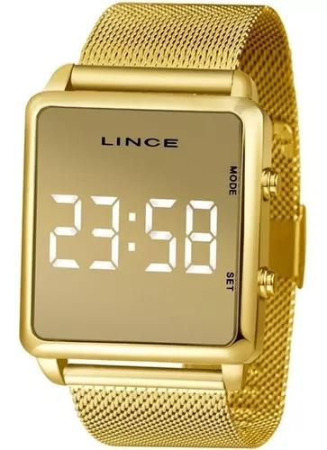 Relógio lince unisex led mdg4619l bxkx
